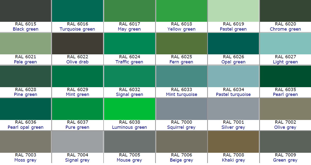 RAL Color Chart – Ral Color Chart